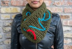 All You Need Is LOVE Cowl Neck Scarf by HeavAncyDesigns on Etsy