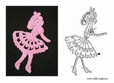 Photos pattern for knitting crochet hookThe pattern number 2093 Scrap Yarn Crochet, Crochet Art, Crochet Motif, Crochet Crafts, Crochet Projects, Crochet Hooks, Crochet Doilies, Crochet Applique Patterns Free, Crochet Cat Pattern
