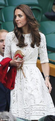 Wimbledon 2014 - Zimmermann Roamer Day dress, Anya Hindmarch Raffia Fan Clutch, Annoushka pearl earrings