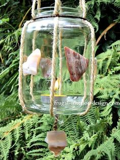 Upcycled Hanging Jar Lantern