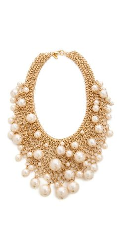 Gorgeous pearls on gold chains!
