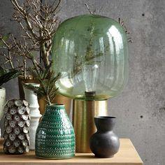 Tischlampe Note grün/Messing  von house doctor