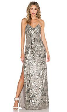 Parker Black Dita Sequin Dress in Grey
