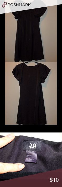 H&M black dress Super cute black dress with flowy sleeves. Extra comfy. Fully lined. 100% polyester. H and M Dresses