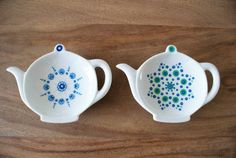 Dot Painting, Stone Painting, Mandala Dots, Ceramic Clay, Decoration, Tea Cups, Pottery, Pointillism, Plastering