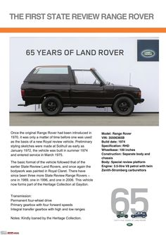 Land Rover is a car brand that specialises in four-wheel-drive vehicles, owned by British multinational car manufacturer Jaguar Land Rover, which has been Range Rover Classic, Advertising History, Car Advertising, Range Rover Off Road, 65th Anniversary, Jaguar Land Rover, Old Ads, Land Rover Defender, Cool Trucks