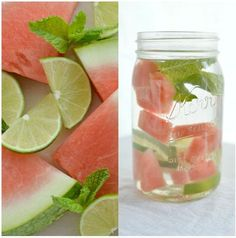 Flavored water: watermelon / mint / lime Source by alithrse Fun Drinks, Yummy Drinks, Healthy Drinks, Healthy Snacks, Healthy Recipes, Beverages, Lime Infused Water, Hydrating Drinks, Watermelon Mint