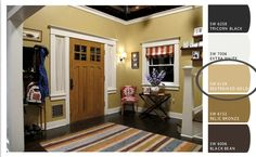 Paint colors from the Parenthood set, specifically the Braverman's foyer.