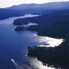 Coeur d'Alene Lake is just about 5 miles the way the crow flies from our little farm.  We could hear the hydroplanes when outside putting up the hay.