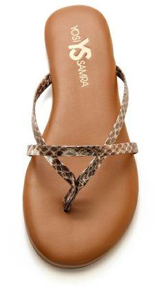 Yosi Samra River Metallic Sandals-exactly what I've been wanting!