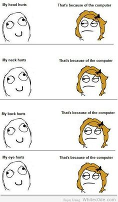 Funny Pic Of The Day: Because Of Computer