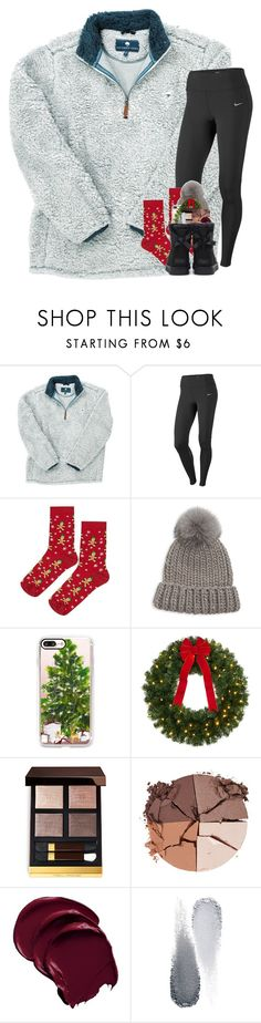 """let it snow let it snow let it snow"" by katie-1111 ❤ liked on Polyvore featuring NIKE, Topshop, Eugenia Kim, Casetify, lilah b., Clé de Peau Beauté and UGG"