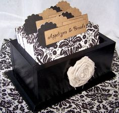 Recipe Box  Dividers and Cards  Black and White by peachykeenday, $46.00