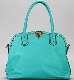 Pre-Order: Turquoise Gold Studded Handbag