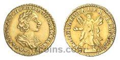 2 рубля 1725 года  Материал чеканки монеты: Золото(Au) Вес монеты: 4,11 г Редкость по каталогу Биткина: (R) Состояние данного экземпляра: XF(ExtraFine) Стоимость монеты 2 рубля 1725 года:   23300 CHF Стоимость монеты по металлу составляет 11936 р по ценам на 26.01.2016