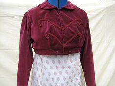Regency Spencer Jacket. CUSTOM, MADE to MEASURE. Jane Austen. Various Styles, Colours, Fabrics. All Sizes.