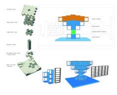 Axon and diagram ideas comparing new bookshelves to Hunt's current bookshelves #NiteshSridhar #48105-S15