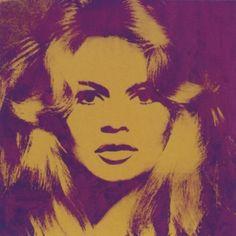 """""""Brigitte Bardot"""" (1974), by Andy Warhol"""