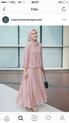 Arabic Style : 2017 Street Style Hijab Fashion – Girls Hijab Style & Hija… Abaya Fashion, Modest Fashion, Girl Fashion, Fashion Dresses, Fashion Ideas, Hijab Fashion Inspiration, Style Fashion, Fashion Design, Dress Brokat
