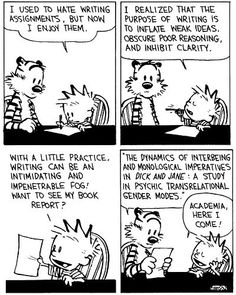 How I felt sometimes writing research papers for my literature classes on stories I didn't particularly like