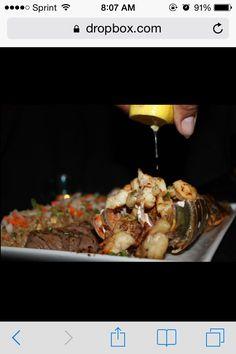 Shoguns Combo: Lobster, Filet, Fried Rice, Veggie Medley