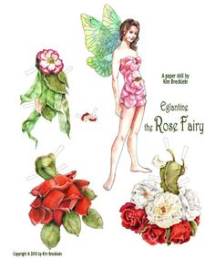 Fairy Paper Dolls Dress*1500 free paper dolls for Christmas at artist Arielle Gabriels The International Paper Doll Society and also free Asian paper dolls at The China Adventures of Arielle Gabriel *
