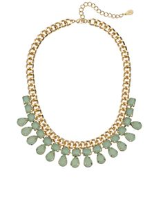 As worn by Pippa Middleton - Natalie Statement Necklace | Green | Accessorize