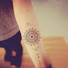 Mandala Temporary Tattoo Ethnic Art Mandala door prosciuttojojo