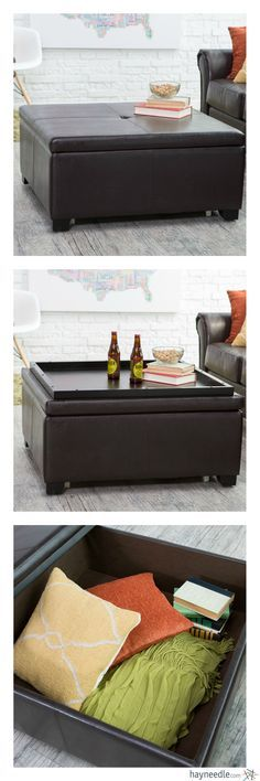 The Luxuriously Elegant Corbett Coffee Table Storage Ottoman   Square Makes  A Handsome Impression In Any