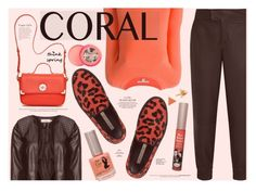 """""""Coral"""" by katarina-blagojevic ❤ liked on Polyvore featuring beauty, Diane Von Furstenberg, L'Autre Chose, Helmut Lang, Zizzi, Jack Rogers, TheBalm, Soap & Glory, Marc by Marc Jacobs and Alima"""