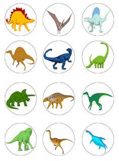 Dinosaur cupcake toppers (12)