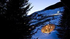 Modern villa built inside a mountain