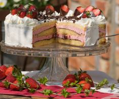 Erdbeer-Knispel-Torte