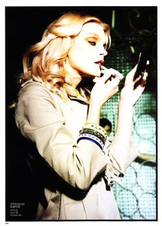 Jessica Stam by Ellen von Unwerth for Vogue China January 2011 styled as Faye Dunaway