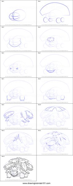 How To Draw Mega Venusaur From Pokemon Printable Step By Drawing Sheet DrawingTutorials101