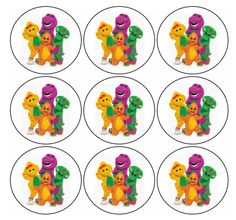 Free Printables Barney Birthday Signs Labels Barney Ideas