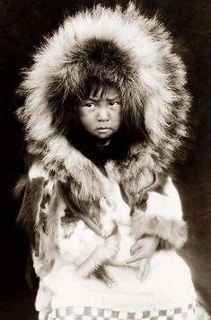 Eskimo child, Noatak tribe, Alaska in1929,by Edward S. Curtis. So precious