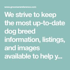 We strive to keep the most up-to-date dog breed information, listings, and images available to help you learn more about our favorite animal!