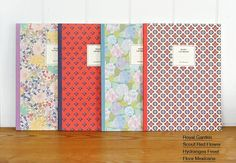 Flower Patterns Ruled Notebook by DubuDumo on Etsy, $7.00