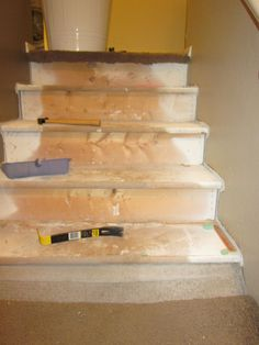 Removing Carpet from Stairs and Painting Them
