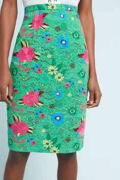 Patricia Lace Pencil Skirt | Anthropologie