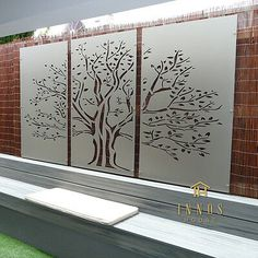 Details about Tree of Life Triptych - DIY Decorative Screens Indoor / Outdoor Garden Wall Art Wall Art outdoor wall art Indoor Outdoor, Outdoor Wall Art, Outdoor Walls, Outdoor Living, Outdoor Screens, Metal Garden Screens, Outdoor Decorative Screens, Outdoor Wall Decorations, Patio Wall Decor