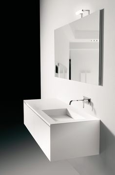 Slot 172, cabinet with integrated corian sink by Italian Antonio Lupi _