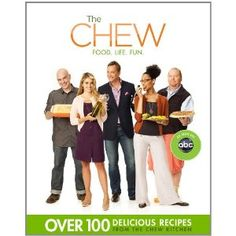 The Chew: Food, Life, Fun   edited by Peter Kaminsky and Ashley Archer - A cookbook based on the ABC talk show hosted by Mario Batali, Michael Symon, Carla Hall, Clinton Kelly and Daphne Oz.
