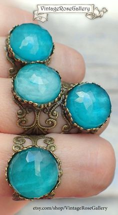 How To Find Cheap Diamond Rings - Jewelry Daze Etsy Jewelry, Boho Jewelry, Vintage Jewelry, Jewellery, Mermaid Ring, Bohemian Rings, Blue Rings, Vintage Roses, As You Like