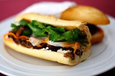 Vietnamese Grilled Lemongrass Pork - learn how to make this meat tender for your banh mi baguette.