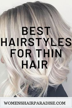 Here are some of the best hairstyles for women with thin fine hair. Short bob cuts,pixie to layered medium haircuts. Here are some of the best hairstyles for women with thin fine hair. Short bob cuts,pixie to layered medium haircuts. Medium Thin Hair, Thin Hair Cuts, Haircuts For Thin Fine Hair, Medium Layered Haircuts, Short Hairstyles For Women, Medium Hair Styles, Cool Hairstyles, Short Hair Styles, Thick Hair