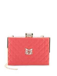 LOVE MOSCHINO Embellished Quilted Clutch. #lovemoschino #bags #velvet #leather #clutch #shoulder bags #lining #hand bags #