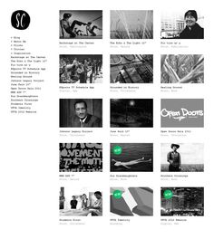 web-design website site minimalist simple plain clean white bw black gallery