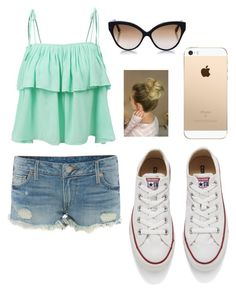 """""""Summer"""" by liamariemarinez on Polyvore featuring moda, True Religion, LE3NO, Converse e Cutler and Gross"""